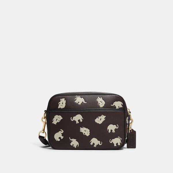 Flight Bag With Elephant Print