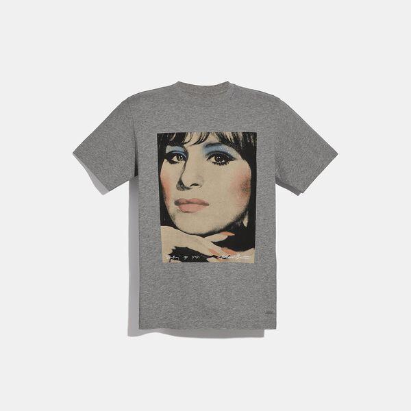Coach X Richard Bernstein T-Shirt With Barbra Streisand, Light Heather Grey, hi-res