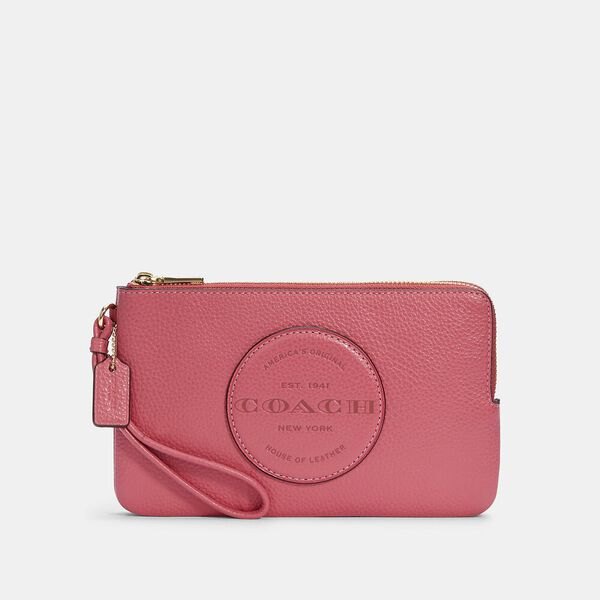 Dempsey Double Zip Wallet With Patch