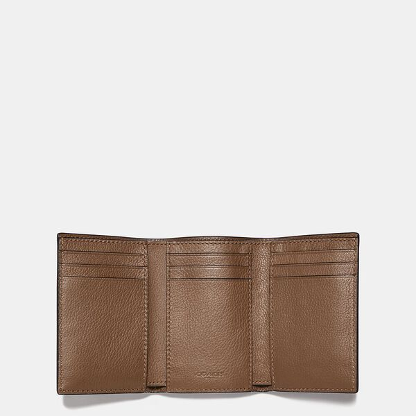 Trifold Wallet, SADDLE, hi-res