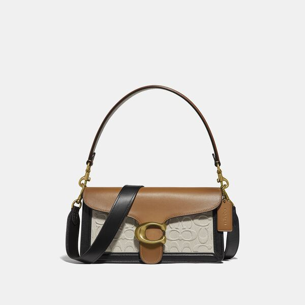 Tabby Shoulder Bag 26 In Blocked Signature Canvas