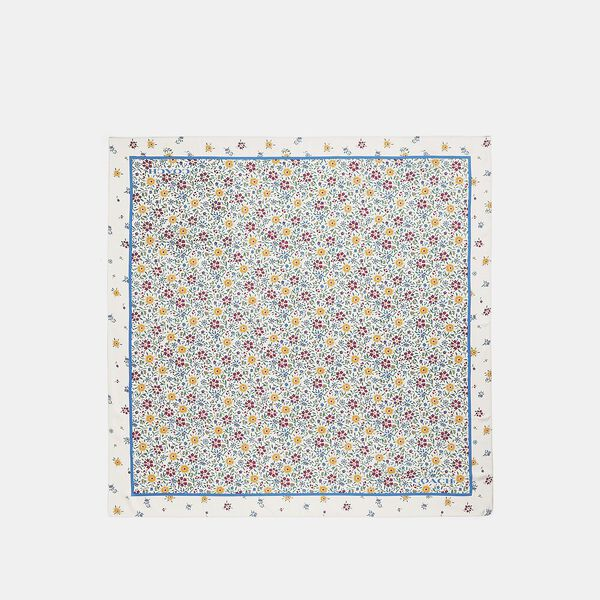 Wildflower Print Silk Square Scarf