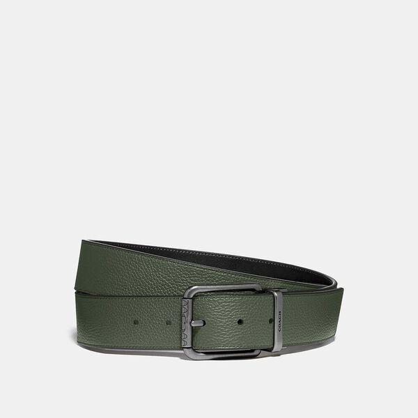 Roller Buckle Cut-To-Size Reversible Belt, LEAF/BLACK, hi-res