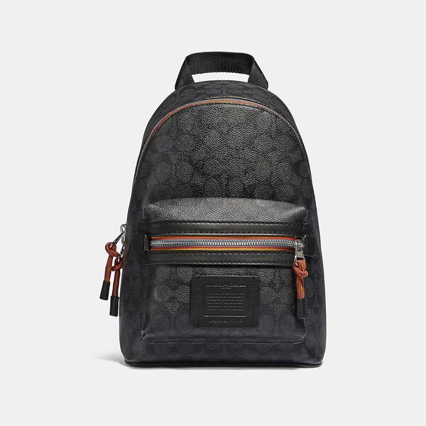 Academy Pack In Signature Canvas With Varsity Zipper, SV/CHARCOAL MULTI, hi-res