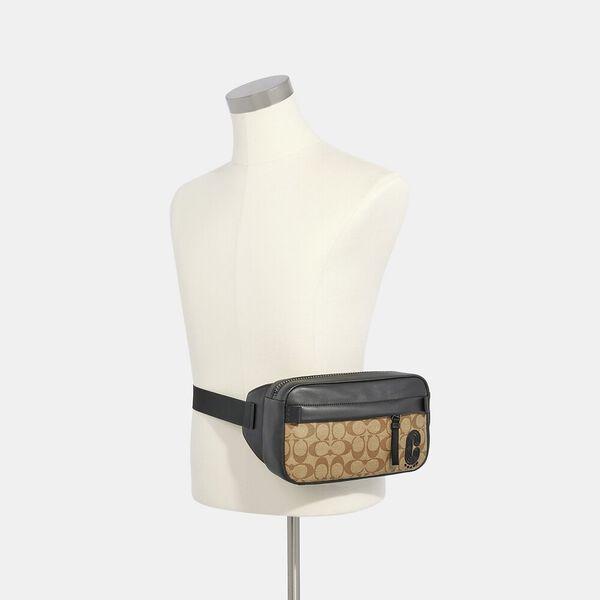 Edge Belt Bag In Signature Canvas, QB/TAN, hi-res