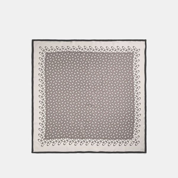 Signature Silk Square Scarf, GREY BIRCH, hi-res