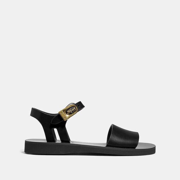 Ankle Strap Sandal, BLACK, hi-res