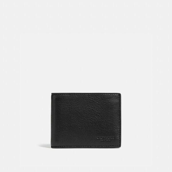 Slim Billfold Wallet, black, hi-res