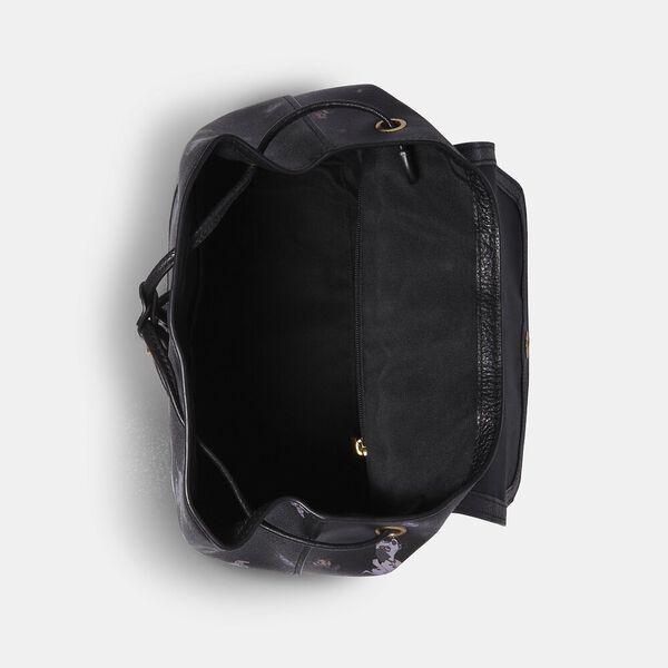 Disney X Coach Elle Backpack With Dalmatian Floral Print, IM/BLACK MULTI, hi-res