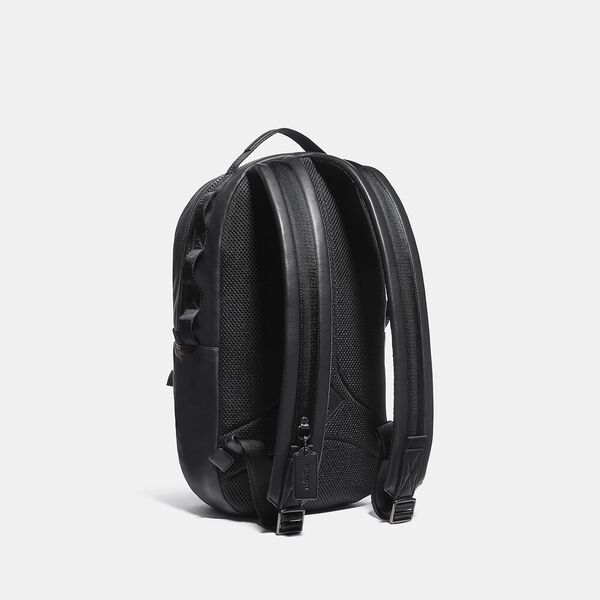 Pacer Backpack In Signature Canvas With Coach Patch, JI/KHAKI, hi-res