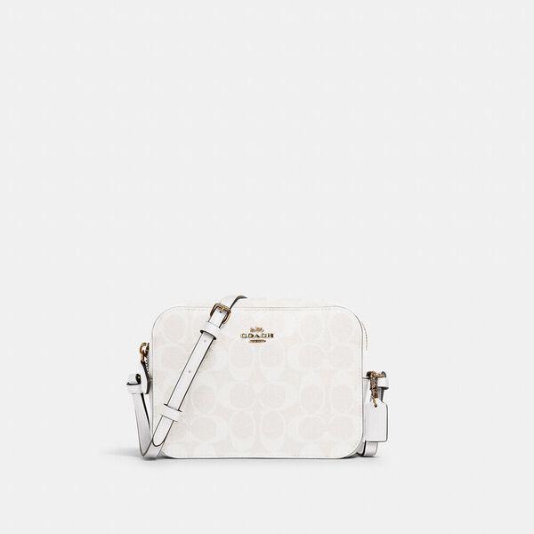 Mini Camera Bag In Signature Canvas, IM/CHALK/GLACIERWHITE, hi-res