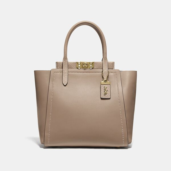 Mixed Leather Troupe Tote