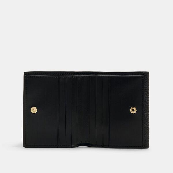 Georgie Small Wallet In Signature Canvas, IM/BROWN BLACK, hi-res