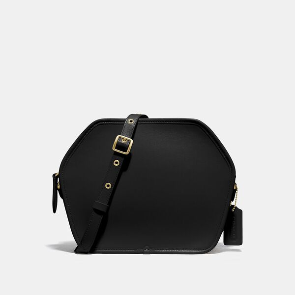 Zip Geometric Pouch, B4/Black, hi-res