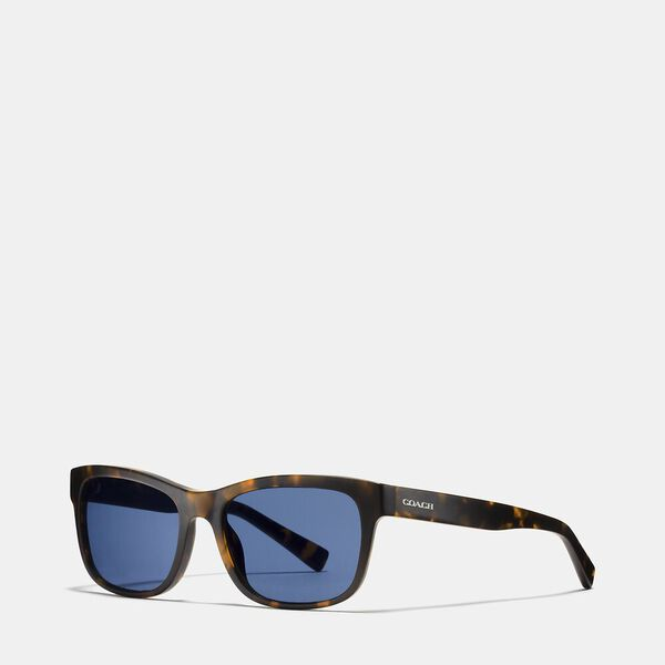 Hudson Rectangle Sunglasses, DARK TORTOISE, hi-res