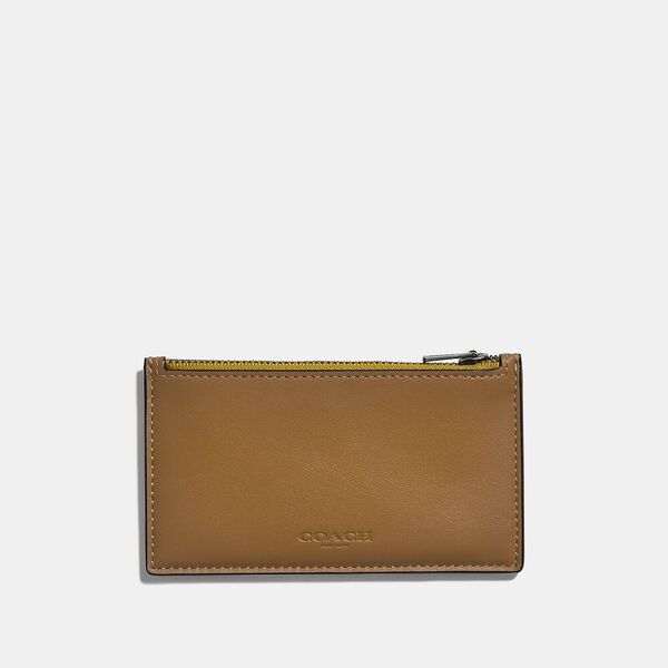 Zip Card Case In Colorblock, LIGHT TOFFE/FLAX, hi-res