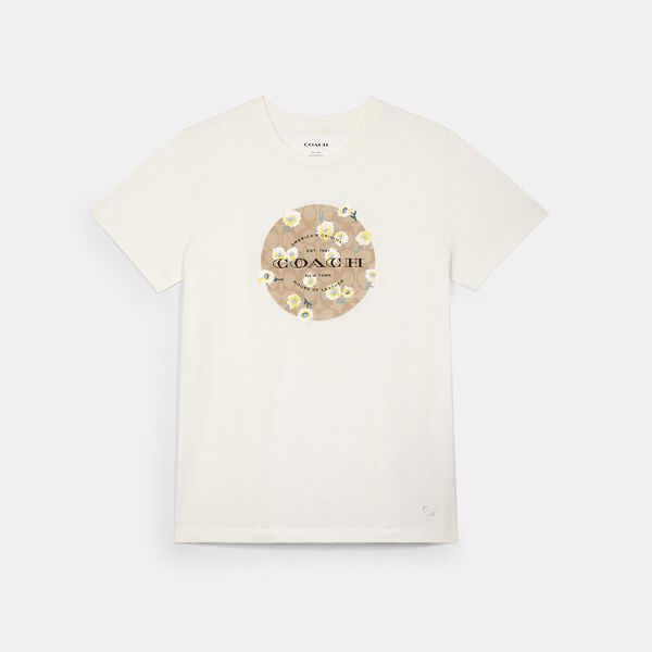 Signature Daisy Embroidered T-Shirt