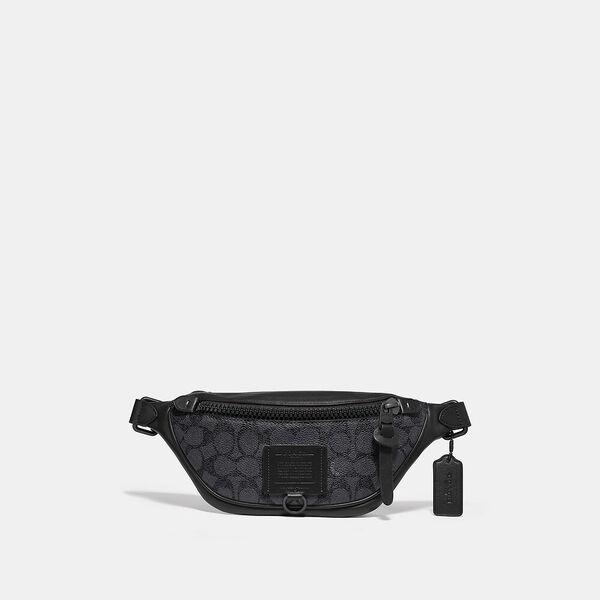 Rivington Belt Bag 7 In Signature Canvas, QB/CHARCOAL, hi-res