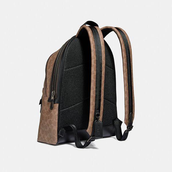 Academy Backpack In Signature Canvas, JI/KHAKI, hi-res