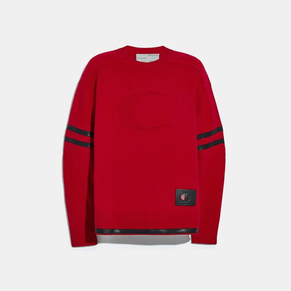 Coach X Champion Football Sweater