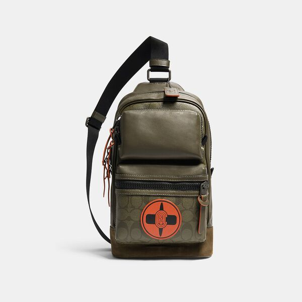 Coach X Michael B. Jordan Rider Pack With Signature Canvas Detail, QB/NINJA GREEN, hi-res