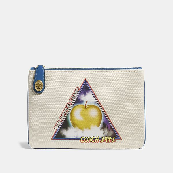 Turnlock Pouch 26 With Sci Fi Big Apple Camp Print, B4/CHALK, hi-res