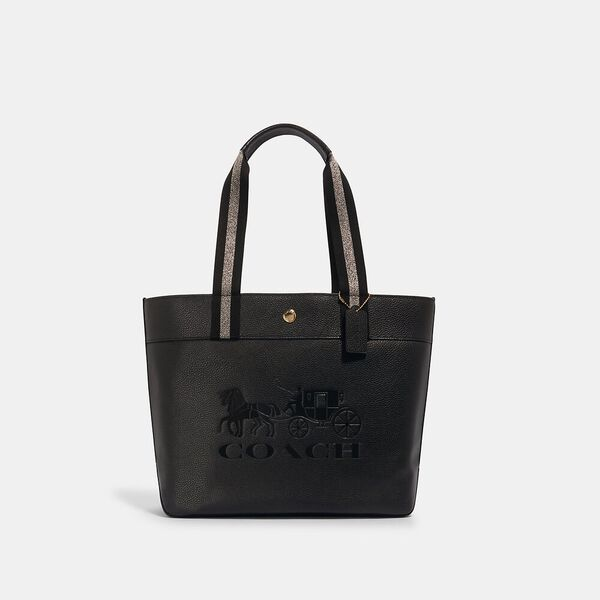 Jes Tote With Horse And Carriage, IM/BLACK, hi-res
