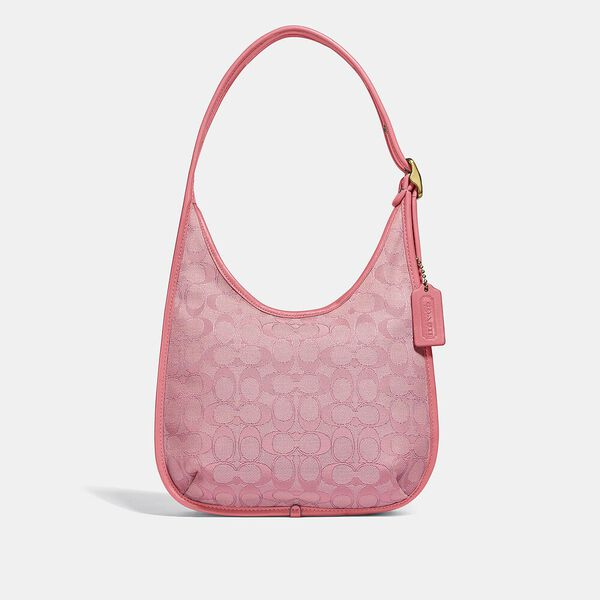 Ergo Shoulder Bag In Signature Jacquard, B4/TAFFY TAFFY, hi-res