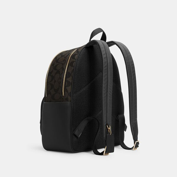 Court Backpack In Signature Canvas, IM/BROWN BLACK, hi-res