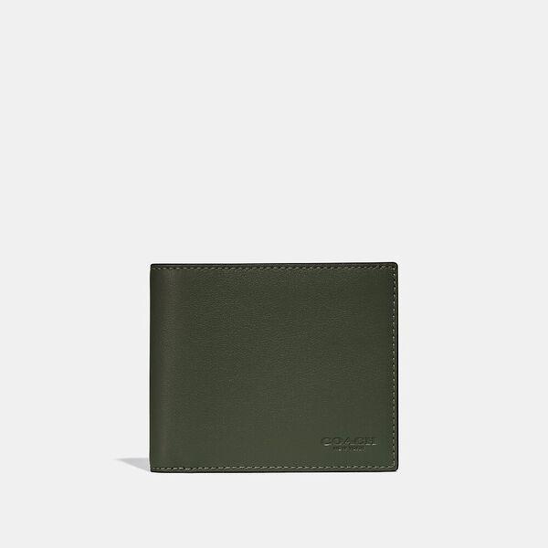 3-In-1 Wallet In Colorblock, DARK SHAMROCK/GRAPHITE, hi-res