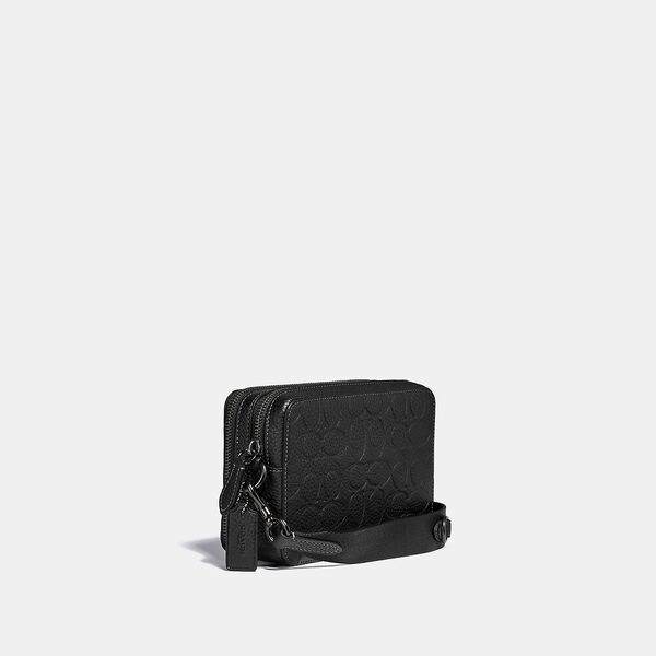 Charter Crossbody In Signature Leather, BLACK, hi-res