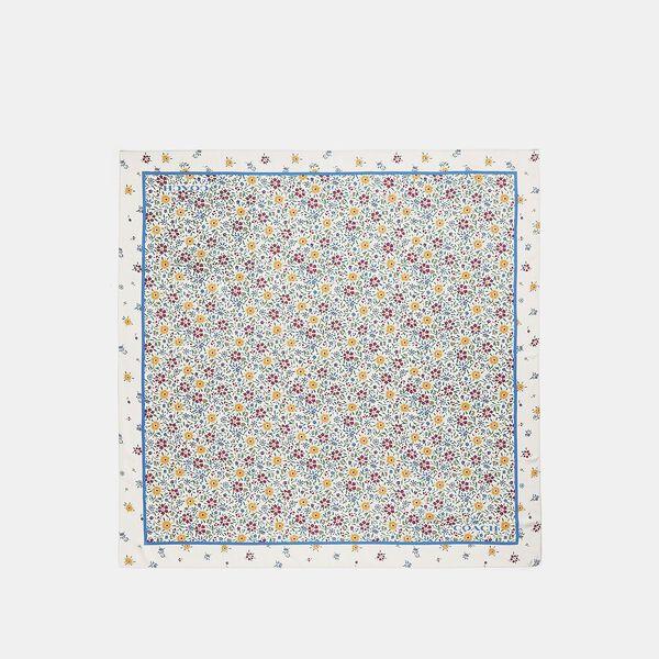 Wildflower Print Silk Square Scarf