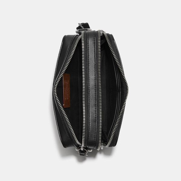 Charter Crossbody In Signature Canvas, CHARCOAL, hi-res