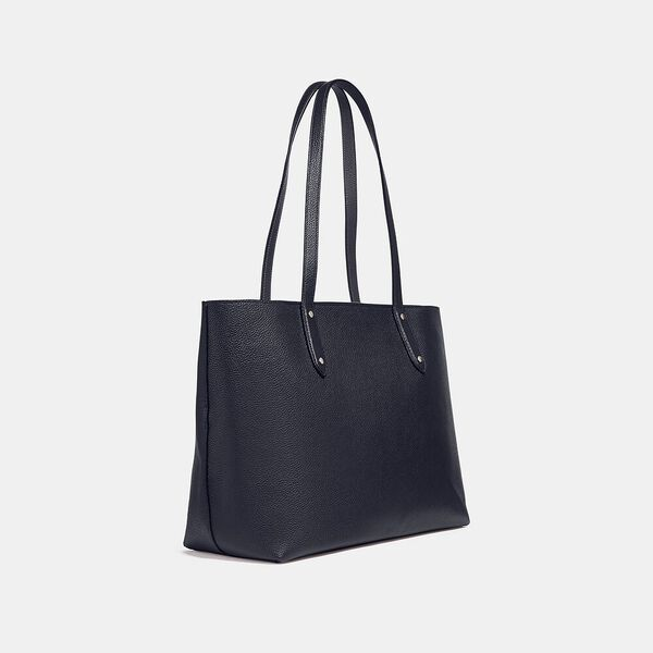 Central Tote With Zip, SV/MIDNIGHT NAVY, hi-res