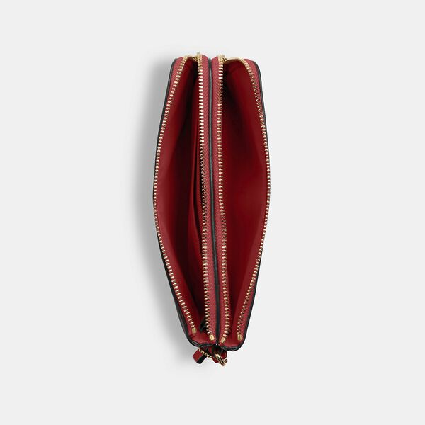 Double Zip Wallet In Signature Canvas, IM/BROWN 1941 RED, hi-res