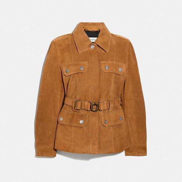 Suede Belted Heritage Jacket, PENNY, hi-res