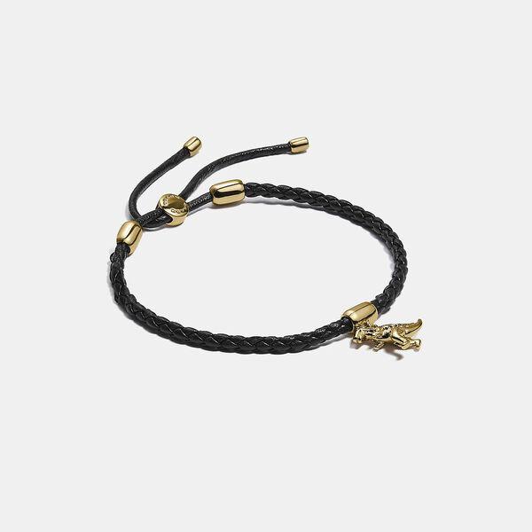 Friendship Slider Bracelet With Rexy Charm, GD/BLACK, hi-res