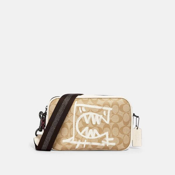 Vale Jes Crossbody In Signature Canvas With Rexy By Guang Yu, QB/LIGHT KHAKI/CHALK MULTI, hi-res