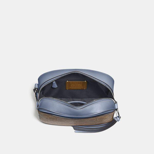 Camera Bag In Signature Canvas, V5/Tan Bluebell, hi-res