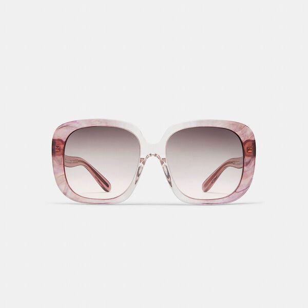 Sculpted Signature Square Frame Sunglasses