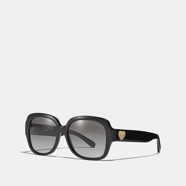 Zoey Heart Sunglasses, GREY, hi-res