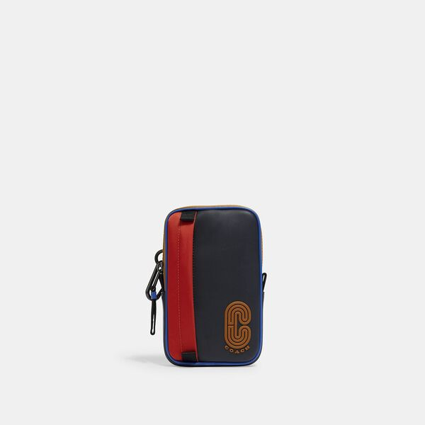 North/South Hybrid Pouch With Coach Patch, QB/BLUE MULTI, hi-res