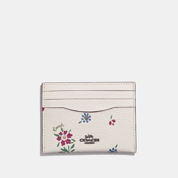 Card Case With Wildflower Print