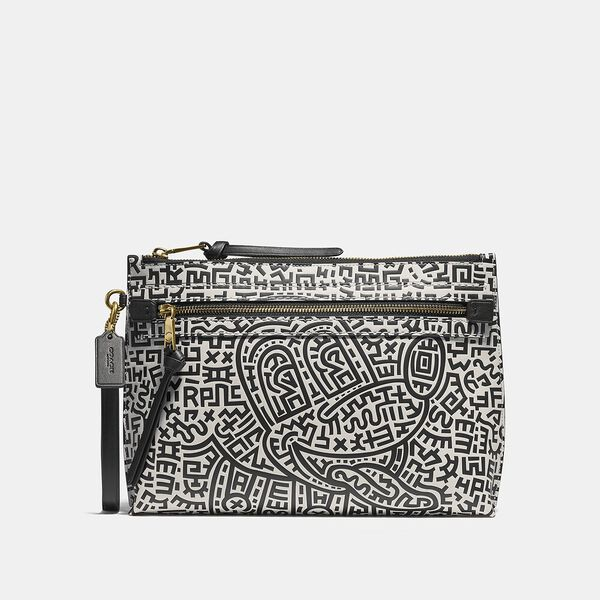 Disney Mickey Mouse X Keith Haring Academy Pouch, BLACK/WHITE, hi-res