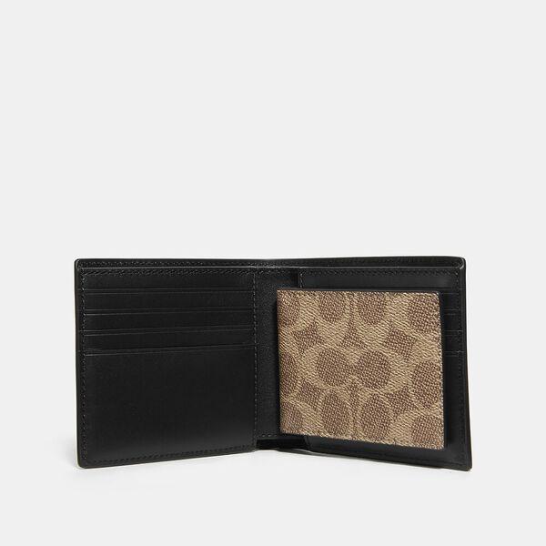 3-In-1 Wallet In Signature Canvas, KHAKI, hi-res