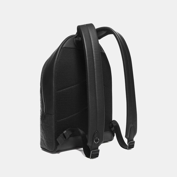 Metropolitan Soft Backpack In Signature Leather, QB/BLACK, hi-res
