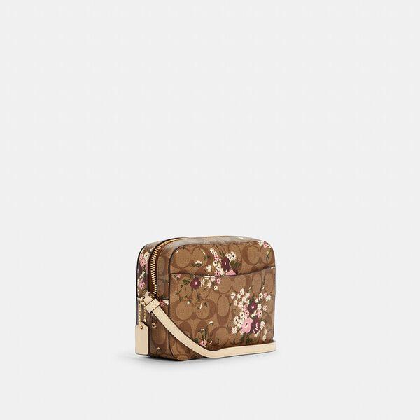 Mini Camera Bag In Signature Canvas With Evergreen Floral Print, IM/KHAKI MULTI, hi-res