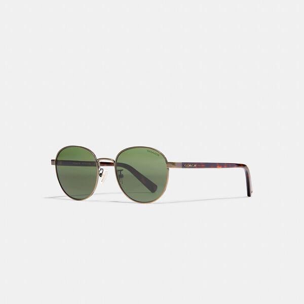 Signature Workmark Round Sunglasses, ANTIQUE GOLD, hi-res