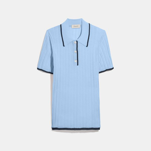 Polo Sweater, POWDER BLUE, hi-res
