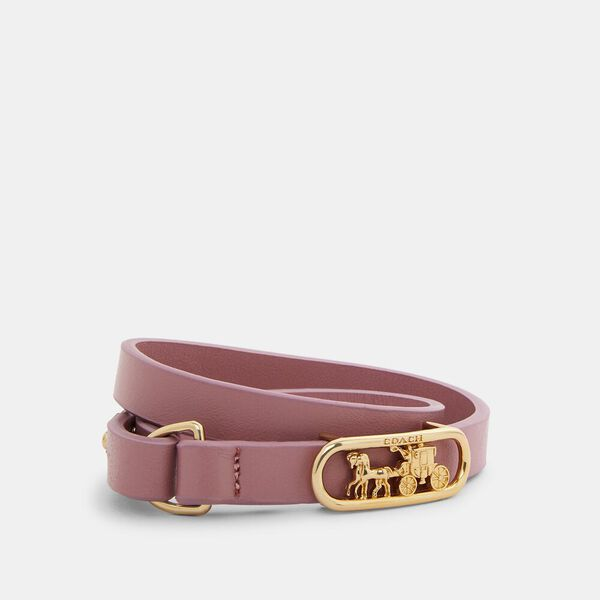 Horse And Carriage Cut Out Bracelet, GD/TRUE PINK, hi-res